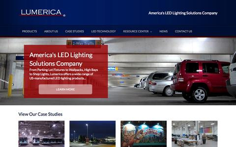 Screenshot of Home Page lumerica.com - Lumerica | America's LED Lighting Solutions Company - captured Jan. 21, 2015