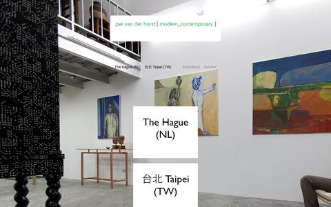 Screenshot of Home Page broftvanderhorst.com - Per van der Horst Gallery - captured Sept. 11, 2015