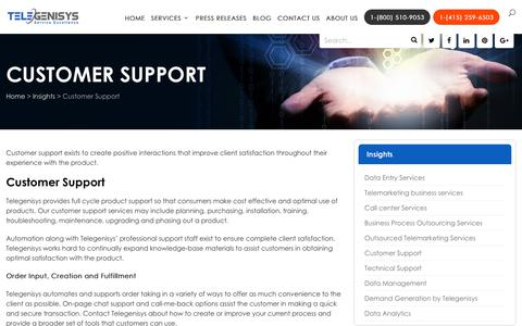 Screenshot of Trial Page Support Page telegenisys.com - Outsource Customer Support | Telegenisys Inc USA - captured March 26, 2018