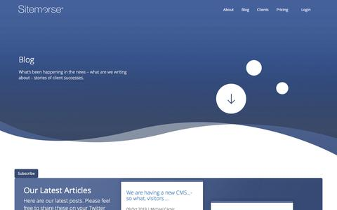 Screenshot of Blog sitemorse.com - Sitemorse | Blog - captured Oct. 10, 2019