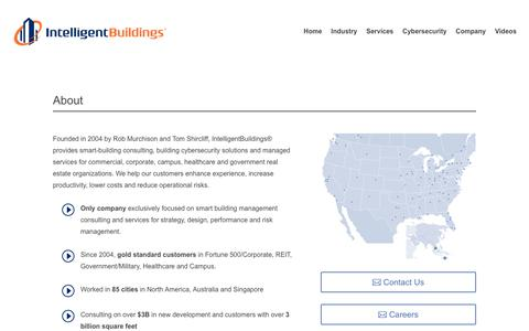 Screenshot of About Page intelligentbuildings.com - About - Intelligent Buildings - captured June 7, 2019