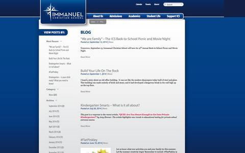 Screenshot of Blog icsva.org - Blog - Immanuel Christian School Immanuel Christian School - captured Oct. 6, 2014