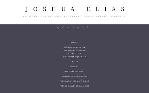 Screenshot of Contact Page joshuaelias.com - CONTACT — JOSHUA ELIAS - captured Oct. 14, 2018