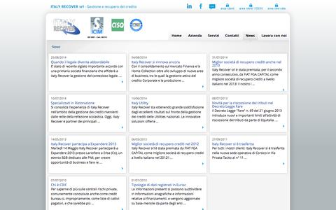 Screenshot of Press Page italyrecover.it - Italy Recover srl - News - captured Oct. 6, 2014