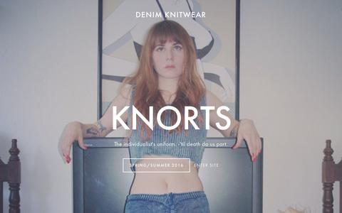 Screenshot of Home Page knorts.com - Knorts - captured Jan. 9, 2016