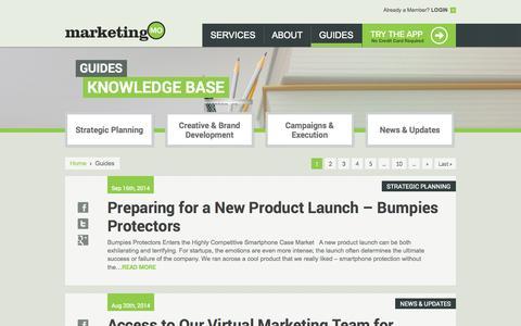 Screenshot of Blog marketingmo.com - Guides | Marketing MO - A Comprehensive Marketing Planning App - captured Oct. 27, 2014