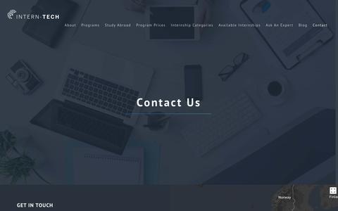 Screenshot of Contact Page intern-tech.com - Contact – Intern Tech - captured Oct. 15, 2017