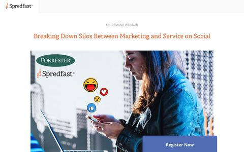 Screenshot of Landing Page spredfast.com - Spredfast - captured Aug. 8, 2018