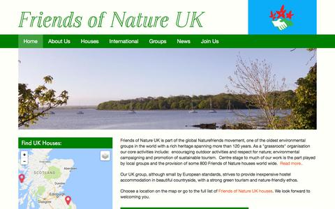 Screenshot of Home Page thefriendsofnature.org.uk - Friends of Nature UK | - captured July 12, 2018