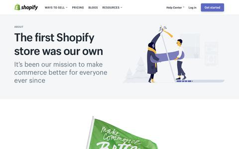 Screenshot of About Page shopify.com - Ecommerce Software, Online Store Builder, POS - Free 14-day Trial by Shopify - captured June 24, 2017