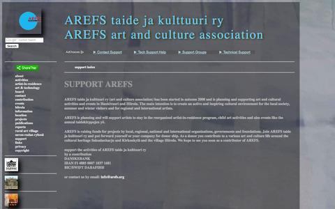 Screenshot of Support Page arefs.org - support - captured Oct. 4, 2014