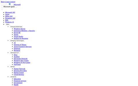 Screenshot of Developers Page microsoft.com - Developer | Microsoft Ignite 2018 - captured Aug. 30, 2018