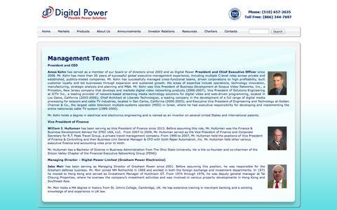 Screenshot of Team Page digipwr.com - Management Team - captured Oct. 5, 2014