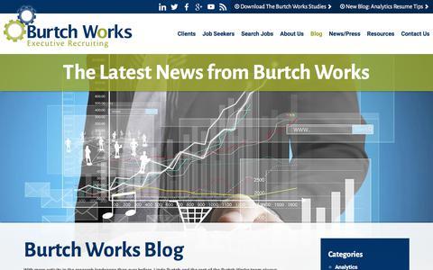 Screenshot of Blog burtchworks.com - Data Science & Web Analytics Jobs | Burtch Works Blog - captured Aug. 4, 2018