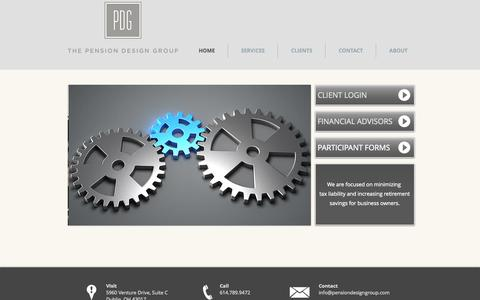 Screenshot of Home Page pensiondesigngroup.com - The Pension Design Group, LLC - captured Jan. 26, 2015