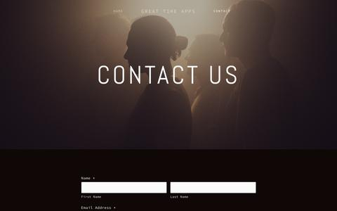 Screenshot of Contact Page greattimeapps.com - Contact Us — Great Time Apps - captured July 24, 2018