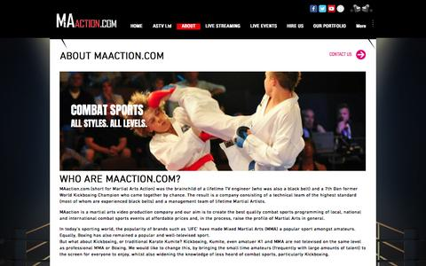 Screenshot of About Page maaction.com - MAaction.com | ABOUT - captured May 25, 2017