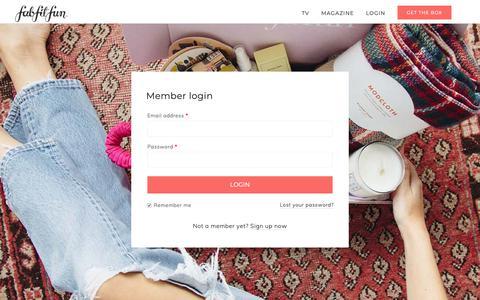 Screenshot of Login Page fabfitfun.com - My Account - FabFitFun - captured March 16, 2019