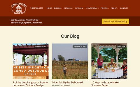 Screenshot of Blog amishgazebos.com - Read The Latest Gazebo News on our Blog | Amish Country Gazebos - captured Jan. 15, 2020