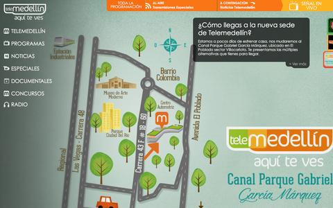 Screenshot of Home Page telemedellin.tv - Telemedell'n, aqu' te ves - captured Jan. 19, 2016