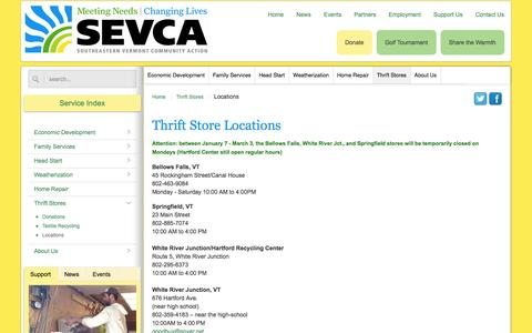 Screenshot of Locations Page sevca.org - Locations - SEVCA - captured Oct. 1, 2014