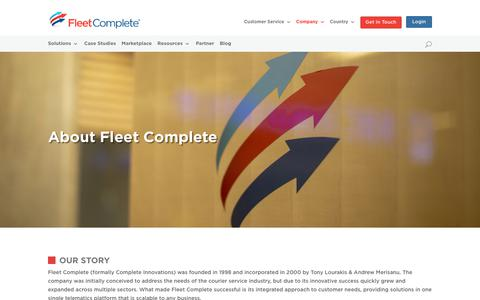 Screenshot of About Page fleetcomplete.com.au - About | AU Fleet Complete - captured Nov. 2, 2018