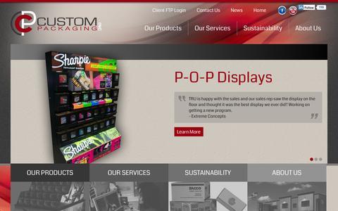 Screenshot of Home Page custompack.com - Welcome to Custom Packaging | Custom Packaging - captured Oct. 3, 2014