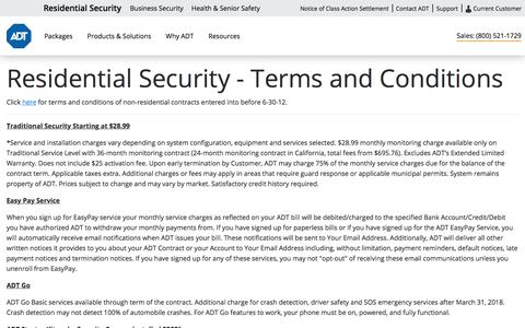 ADT Home Security Terms & Conditions - ADT Security Services