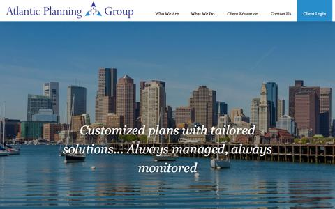 Screenshot of Home Page atlanticplanning.com - Atlantic Planning Group, LLC - captured Sept. 13, 2015