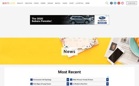 Screenshot of Press Page brit.co - Brit + Co - News - captured Feb. 5, 2020