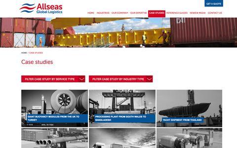 Screenshot of Case Studies Page allseasglobal.com - Case Studies | Allseas Global - captured Oct. 4, 2014
