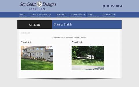 Screenshot of Case Studies Page landscapersct.com - Connecticut Landcaper Masonry Portfolio - captured July 6, 2017
