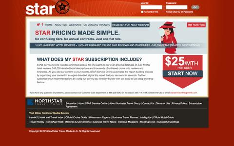 Screenshot of Pricing Page starserviceonline.com - Subscribe to STAR Service Online: STAR Service Online - captured July 20, 2016