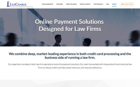 Screenshot of About Page lexcharge.com - LexCharge - Online Payment Solutions | LexCharge - captured July 10, 2018