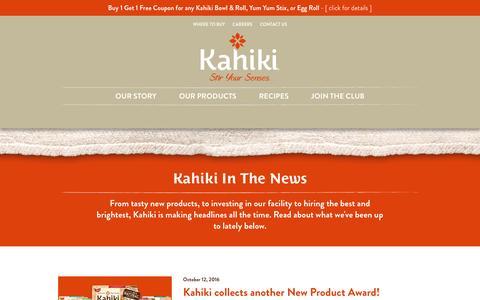 Screenshot of Press Page kahiki.com - News | Kahiki - captured Oct. 23, 2016