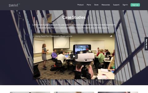 Screenshot of Case Studies Page swivl.com - Case Studies – Swivl - captured Dec. 3, 2016