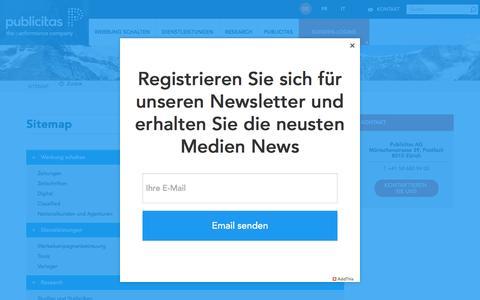 Screenshot of Site Map Page publicitas.ch - Sitemap | Publicitas - captured April 4, 2017