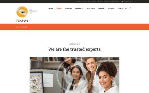 Screenshot of About Page dnares.in - About – Genetic DNA Test, DNA Sequencing Services, Biotech Company in India - captured June 29, 2017
