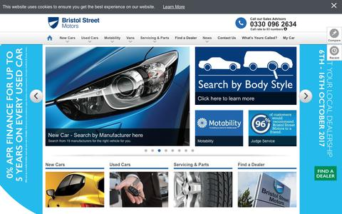 Screenshot of Home Page bristolstreet.co.uk - Bristol Street Motors | Cheap Cars for Sale | Used and New Cars - captured Oct. 11, 2017