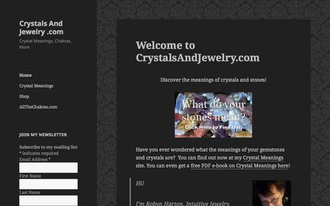 Screenshot of Home Page crystalsandjewelry.com - Crystals And Jewelry .com | Crystal Meanings, Chakras, More - captured Nov. 13, 2015