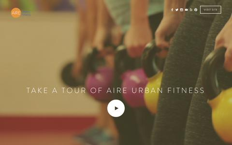 Screenshot of Home Page airesd.com - Aire Urban Fitness - captured Feb. 5, 2016