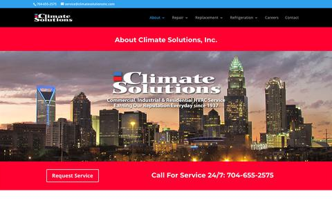 Screenshot of About Page climatesolutionsinc.com - About Climate Solutions, Inc. | Industrial, Commercial and Residential HVAC Sales & Service - captured July 19, 2018