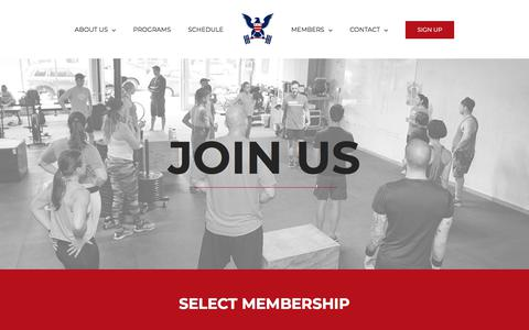 Screenshot of Signup Page oldcitycrossfit.com - Membership | Old City CrossFit | Washington, DC | Preparing You for Life - captured Aug. 8, 2018