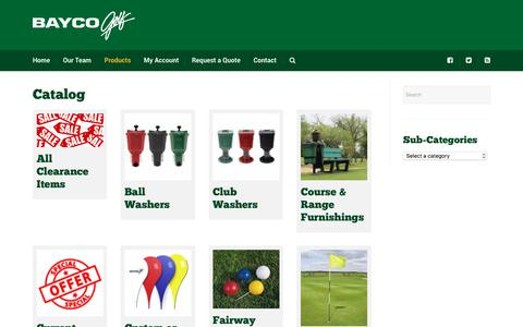 Screenshot of Products Page baycogolf.com - Products Archive | Bayco Golf - captured Aug. 1, 2018