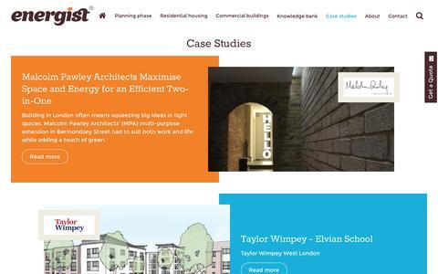 Screenshot of Case Studies Page energistuk.co.uk - DEFAULTTITLE - captured July 14, 2016