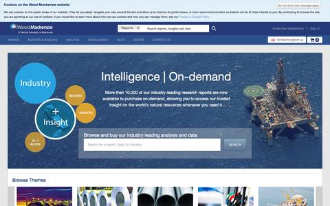 Screenshot of Home Page woodmac.com - Homepage | Wood Mackenzie - captured Oct. 4, 2015
