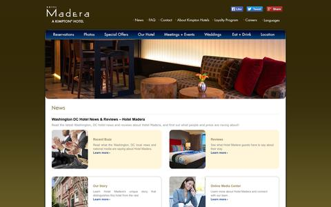 Screenshot of Press Page hotelmadera.com - Washington, DC Hotel News | Hotel Madera, a Kimpton Boutique Hotel - captured Oct. 4, 2014