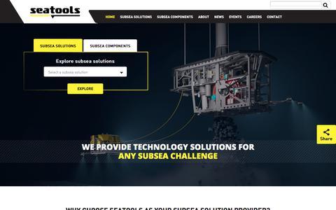 Screenshot of Home Page seatools.com - Custom-made Subsea Technology   Seatools - captured Oct. 24, 2017
