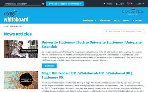 Screenshot of Press Page magicwhiteboard.co.uk - Magic Whiteboard ™ As Seen On TV | Whiteboards | Stationery - captured Oct. 2, 2018