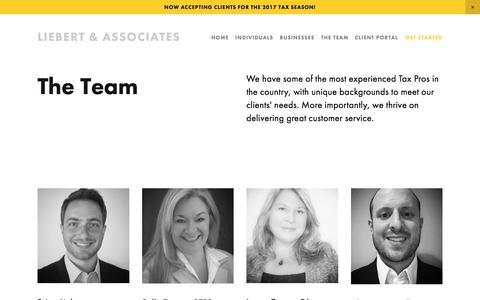 Screenshot of Team Page liebertassociates.com - The Team — Liebert & Associates - captured July 19, 2018